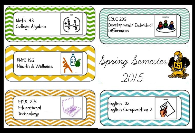 Spring Semester 2015